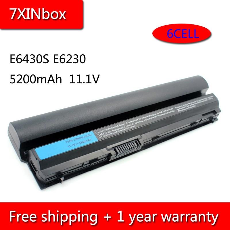 7XINbox 6cell 5200mAh 09K6P Аккумулятор для ноутбука Dell Latitude E6120 E6220 E6230 E6320 E6320 E6330 E6430S 0F7W7V 9GXD5 K4CP5 GYKF8