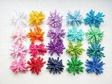 Sujetadores de cola de caballo con borla de Corker para niña, cintas lisas rizadas, lazos con flor, corbatas, Korker motas de cabello, accesorio elástico 2 uds PD007