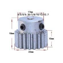 Vis supérieures de roue en acier métal   Module de 20 dents moteur vis supérieures 4/5/6/6/35/7/8/10/12/12.7mm, trou