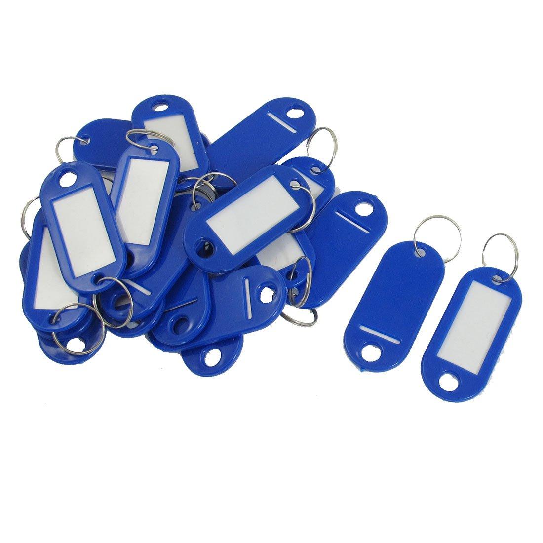 20 шт., Брелоки для ключей, бирок для ключей, кольцо для ключей, голубой брелок для ключей