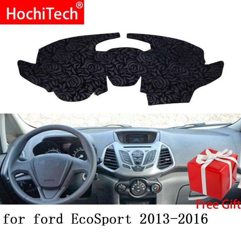 Patrón de Rosa antideslizante Dashmat Dash Mat almohadilla de la cubierta del tablero cubierta de la alfombra pegatina de coche para Ford ecosport 2013 2014-2017 estilo de coche