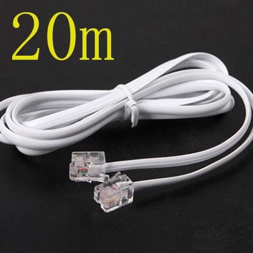 10 Uds alta velocidad 20m 60ft RJ11 teléfono ADSL módem línea Cable GM