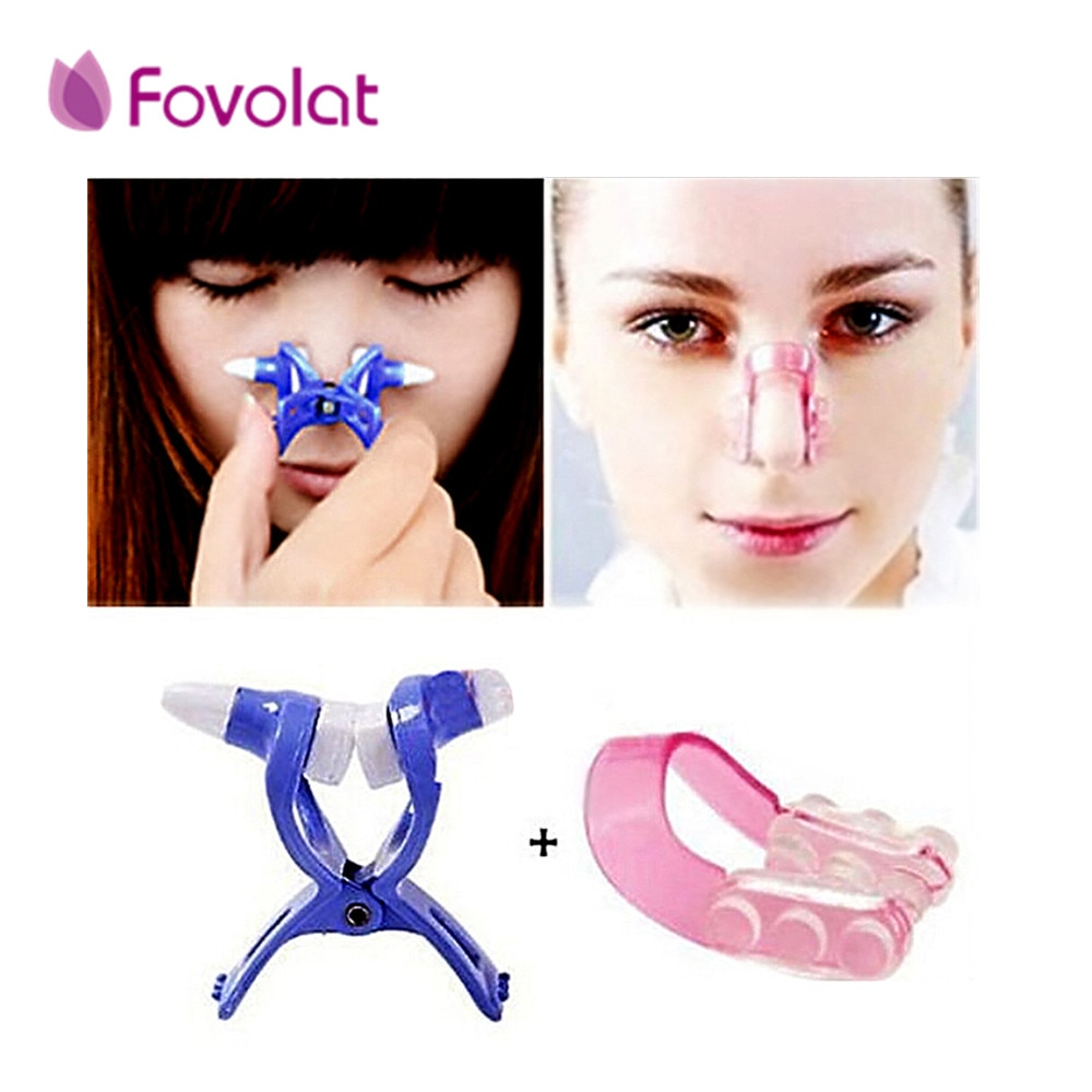 1 conjunto de nariz up shaper shaper levantamento + ponte endireitamento beleza nariz clip face fitness facial clipper corrector nariz massagem