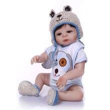 NPK Real 48 CM bebe Reborn poupée fait à la main en Silicone Reborn garçon fille poupée Boneca en vêtements mignons mode bébé poupées pour enfant
