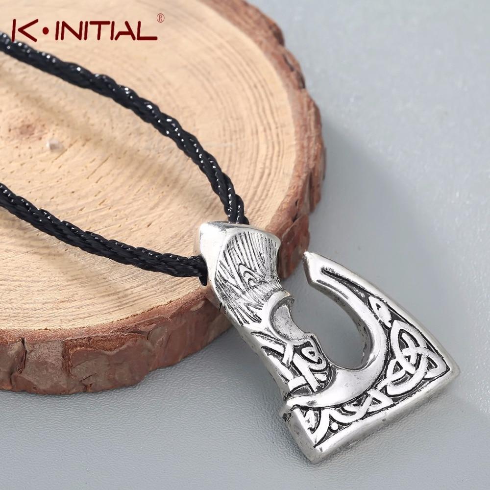 COLLAR COLGANTE hacha grande Slavic Perun Color bronce antiguo Kinitial, joyería vikinga, collares eslavos aptos para joyería masculina