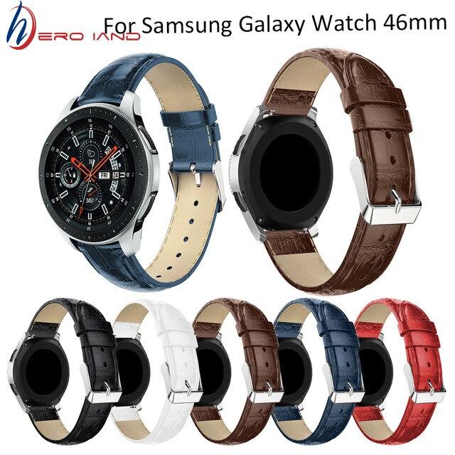 Correa de 22mm para reloj Samsung Gear S3 Frontier, Correa clásica de 46mm para reloj Galaxy, correa de cuero para relojes Huami Amazfit Pace/Stratos 2/1