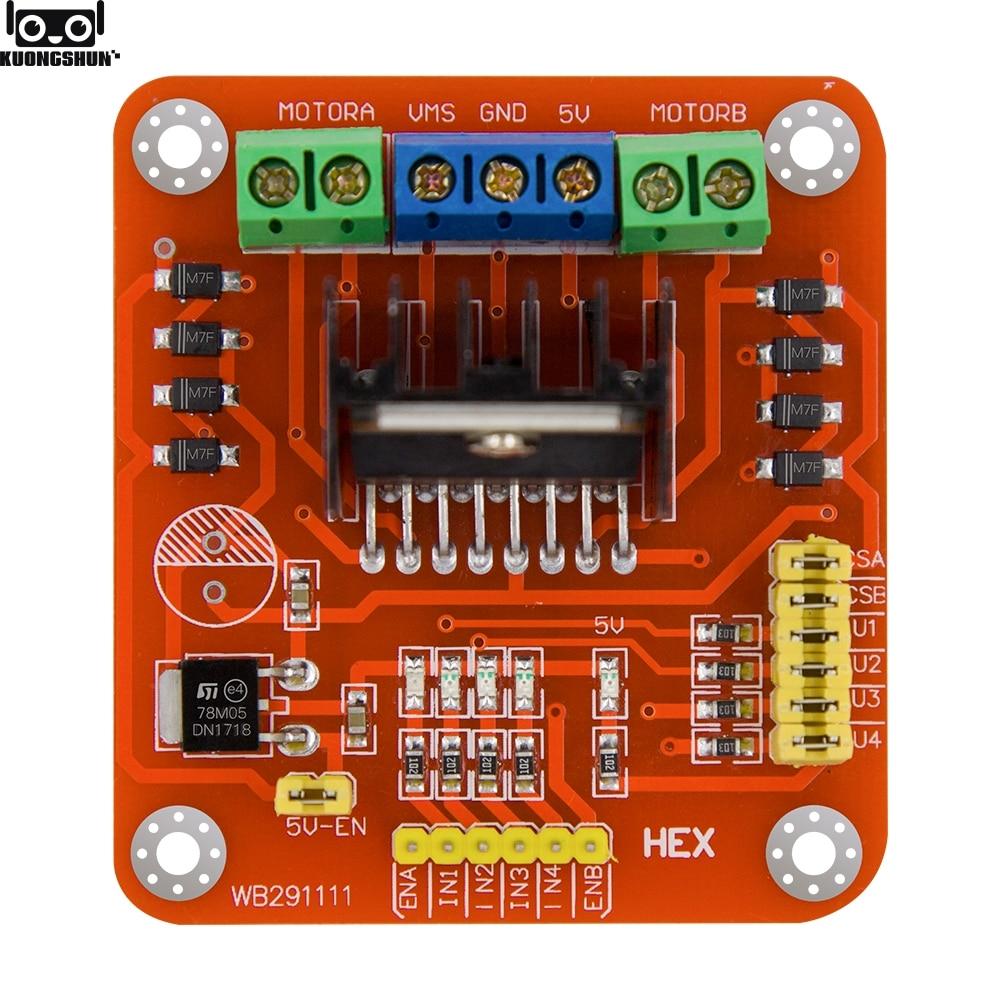 L298N DC Motor Treiber Modul Dual H Brücke DC Motoe Fahrer Modul Stepper Motor Driver Board für Arduino PIC AVR