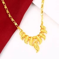wedding party womens choker chain yellow gold filled bridal fashion womens pendant necklace