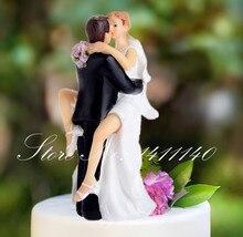 Décoration de gâteau de mariage en résine   Figurine dembras de mariés en forme de véritable amour, fournitures pour fête de mariée