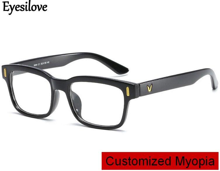 Eyesilove customized myopia glasses for men women short-sighted prescription glasses near-sighted mo
