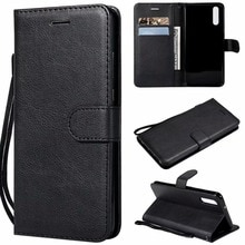 Wallet Case For Huawei P20 Flip back Cover Pure Color PU Leather Mobile Phone Bags Coque Fundas