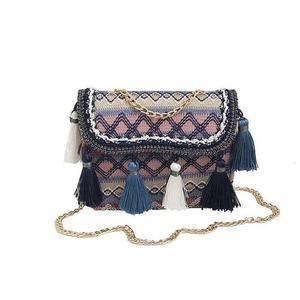 2018 Lady Fresh Style Handbag Vintage Tassel Messenger Bag Women handmade Cute Flap Chain Shoulder Bag fashion crossbody bags