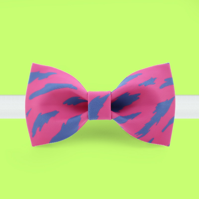 Free shipping 2019 new fashion men's male Original handmade printed bow tie banquet party groom dress wedding Pink Panther
