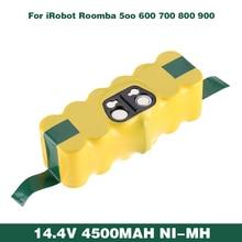 Ni-mh 14,4 В 4500 мАч аккумуляторная батарея для пылесоса iRobot Roomba Batmax 500 550 610 780 790 880 570 650 900