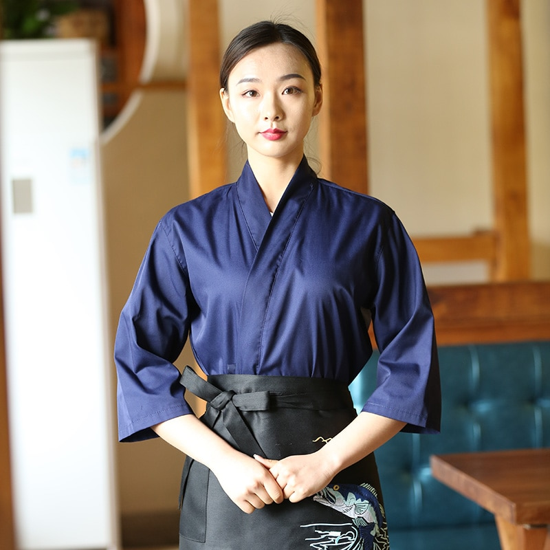 Новый костюм для приготовления пищи унисекс, унисекс, униформа для приготовления пищи в японском и корейском стиле, униформа для шеф-повара,...