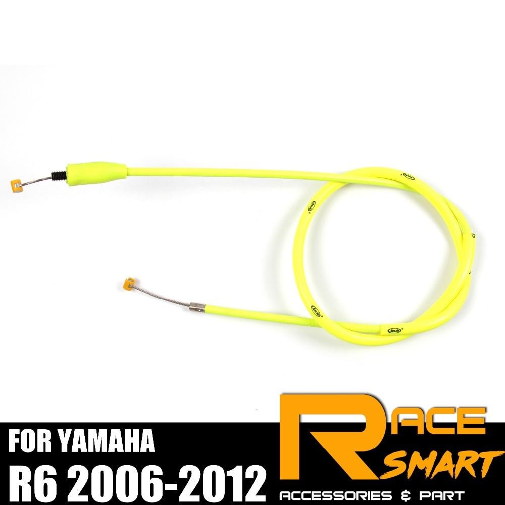 Cable de embrague para YAMAHA R6 2006-2012 YZF-R6 R-6 R 6 2007, 2008, 2009, 2010, 2011 alambre de acero inoxidable línea de goma de la motocicleta