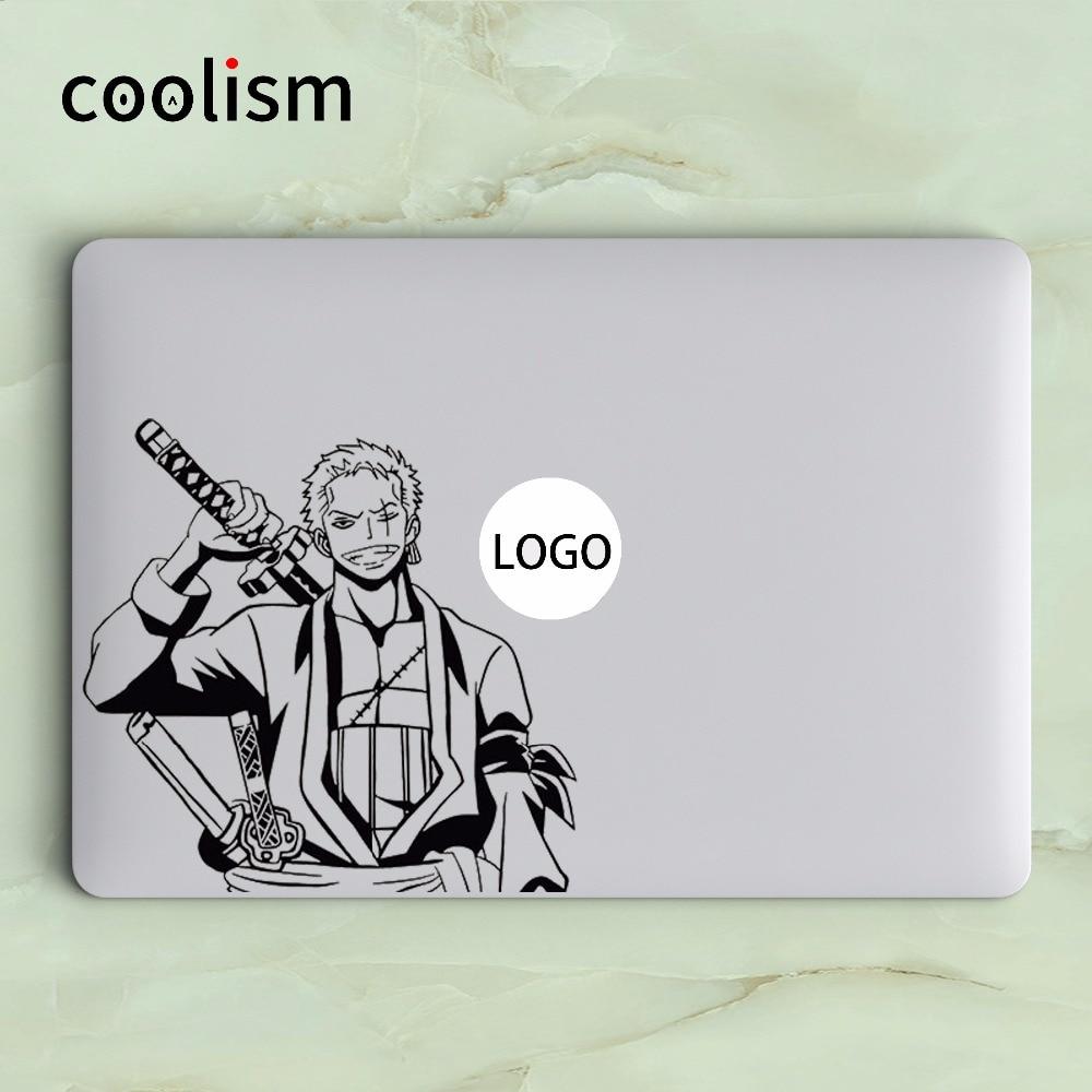 Roronoa Zoro One Piece Anime Laptop Decal Sticker for Apple MacBook Skin Air 13 Pro Retina 11 12 15 inch Mi Surface Book Sticker