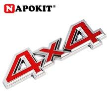 1Pc Metalen 3D 4x4 Auto Sticker 4 Drive Embleem Badge voor JEEP Patriot Wrangler Grand Cherokee kompas voor Prado Auto Styling