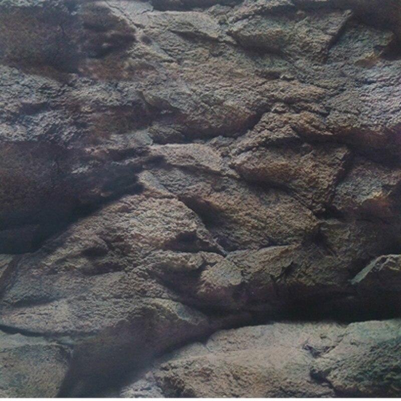 Fish Tank Accessories  Aquarium Decoration Wallpaper Background HEIGHT 30 AND 50-100CM WATERPROOF Sticker ROCK Non-self-adhesive