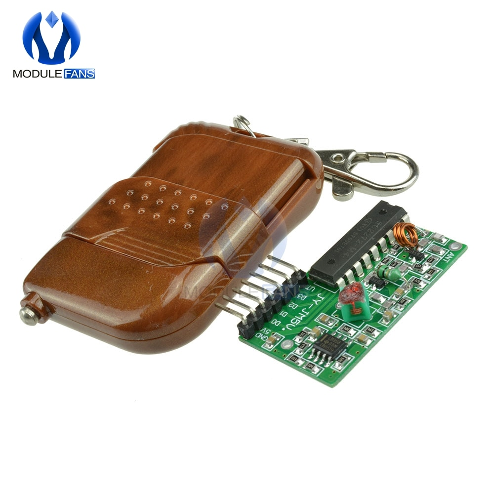 IC 2262 2272 315Mhz 433MHZ Four Ways 4 CH Key Wireless Remote Control Module Kit ASK Decoding Receiver Board For Arduino