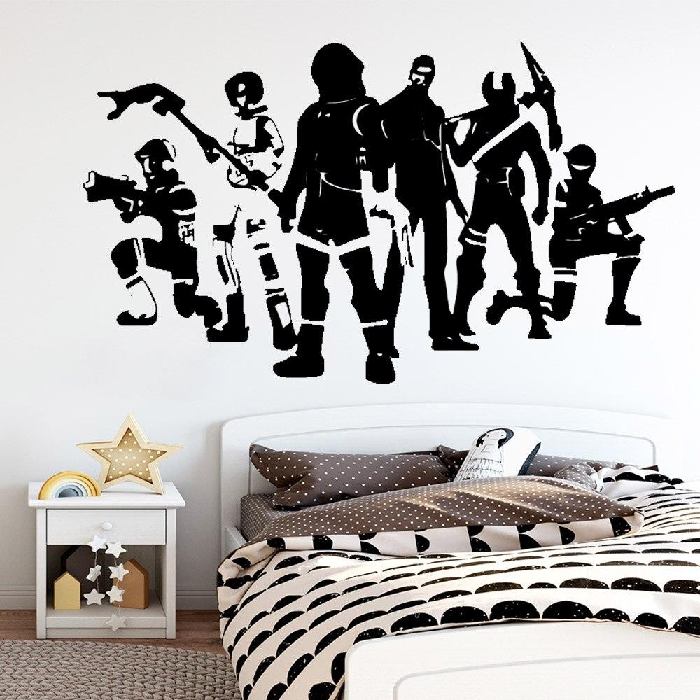 Hot Battle Royale ps4, pegatina de pared de gamer, papel de pared artística para dormitorio, habitación de niños, decoración del cuarto de niños, pegatina decorativa de vinilo