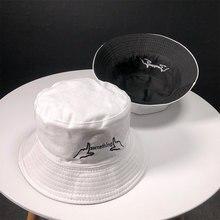 2019 algodón negro y blanco Bordado de letras sombrero de pescador sombrero de viaje al aire libre sombrero para el sol gorra sombreros para hombres y mujeres 189