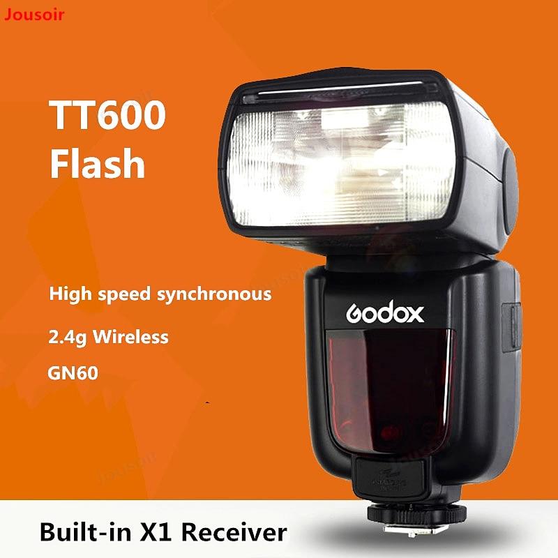 Godox TT600 Flash sapata geral GN60 Speedlite síncrona de alta velocidade 2.4g Sem Fio receptor embutido X1 C/N /S/F/P CD50 T11