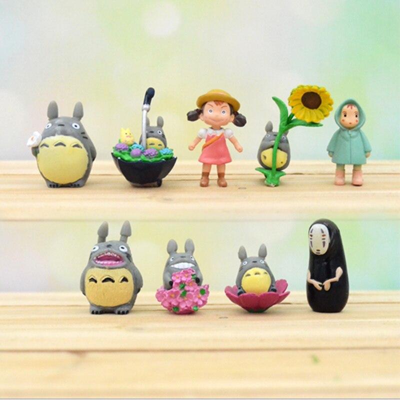 9 шт./лот Ghibli Аниме Фигурка Мой сосед Тоторо игрушка Хаяо Миядзаки мини сад ПВХ Фигурки игрушки для детей Подарки
