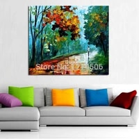 hand painted road street lamp abstract palette knife oil painting on canvas artwork painting wall picture for office home decor