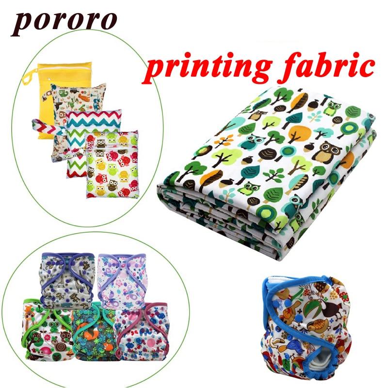 Tela de impresión Digital de poliéster impreso 100% impermeable, pañal de tela para bebé, revestimiento de TPU vendido por metro, personalización al por mayor
