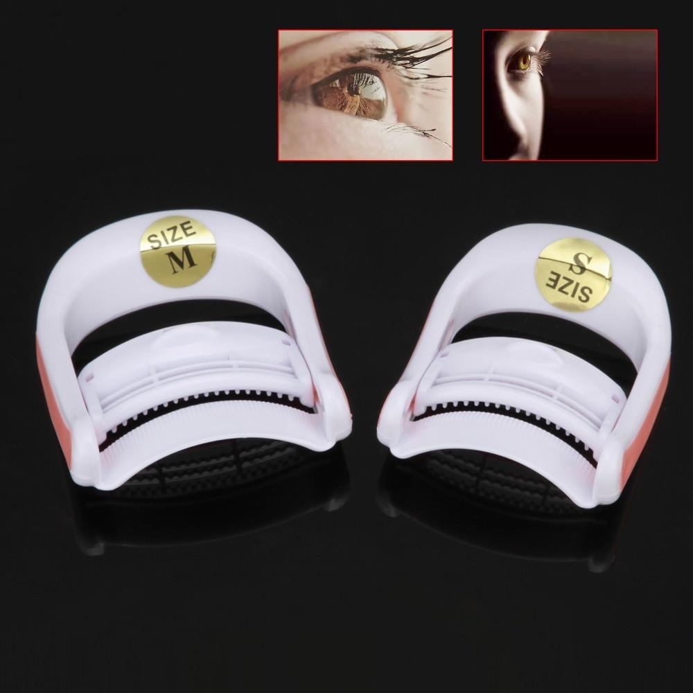 Portátil mini 1 pares cílios modelador de extensão de cílios perming modelador maquiagem cosmética marca lash elevador perming modelador tamanho s/m