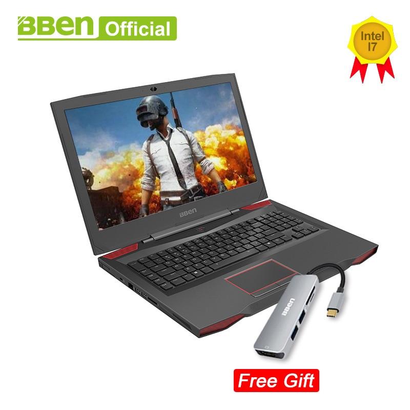 Ordenadores portátiles Bben G17 NVIDIA GTX1060 Intel i7-7700HQ 7th Gen. Kabylake 17,3 pulgadas pro windows10 con licencia DDR4 RAM