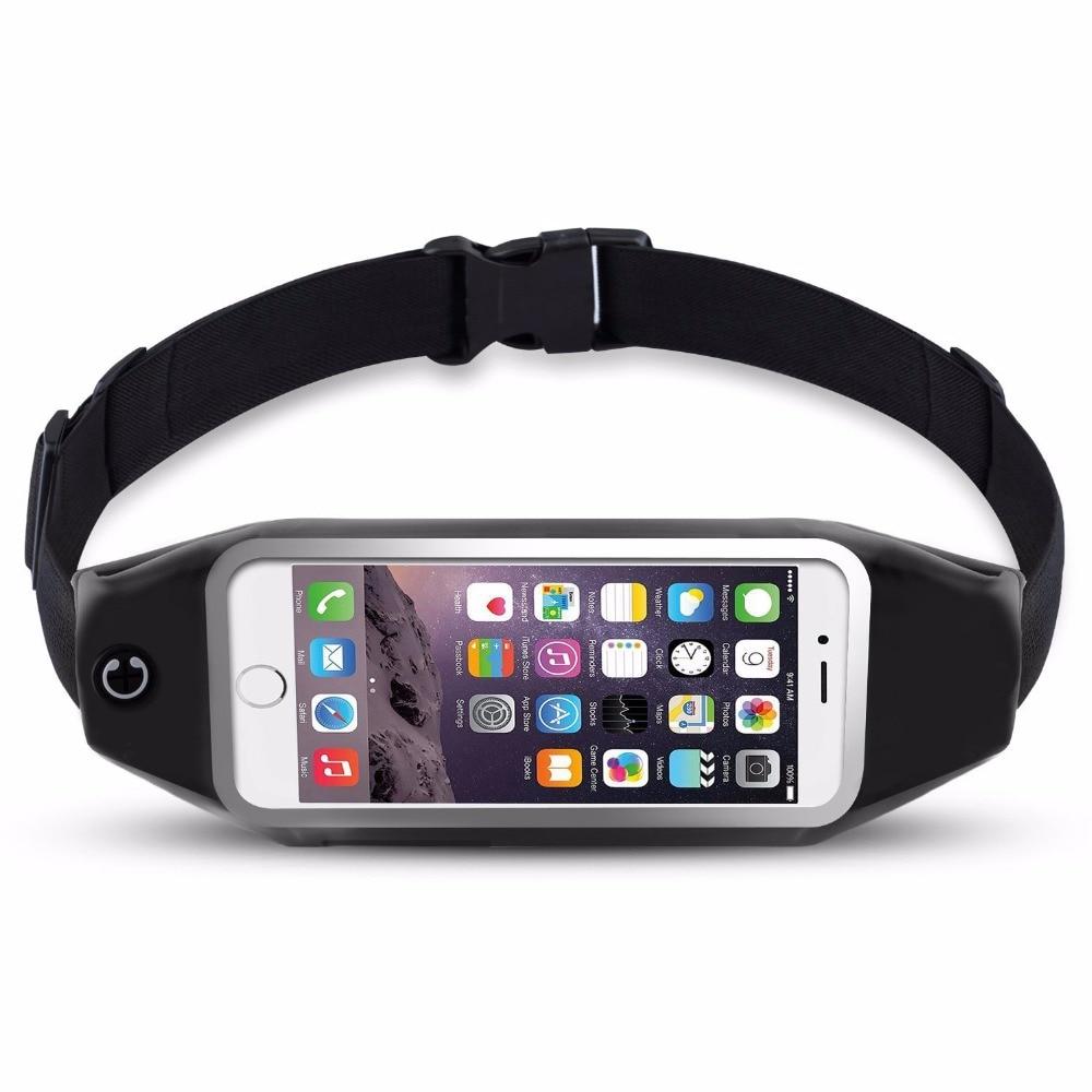 New Outdoor Running Waist Bag Waterproof Mobile Phone Holder Jogging Telephone Belt Belly Bag Gym Fitness Bag Sport Accessories