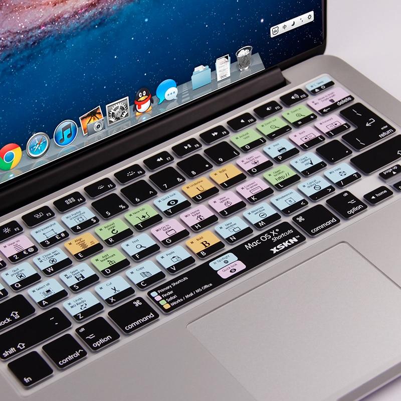 US/Versione Europea Mac OS X di Scelta Rapida Design Funzionale Copertura Della Tastiera Del Silicone per Macbook Air 13, Pro, 13, 15, senza fili