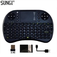 sungi i8 air fly mouse wireless remote control mini keyboard touchpad arabicgermanfrenchthaienglish language for smart tv