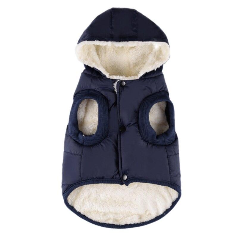 Ropa de invierno ropa de perro mascota con capucha Chihuahua Pug ropa traje grueso cálido chaqueta de perro
