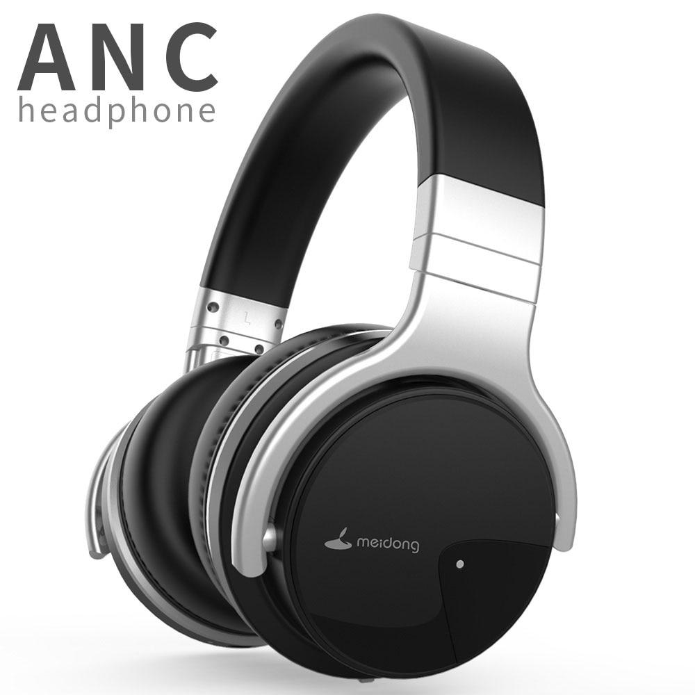 Оригинальные наушники Meidong E7B с активным шумоподавлением, Bluetooth-наушники, беспроводная гарнитура глубокими басами и микрофоном для телефо...