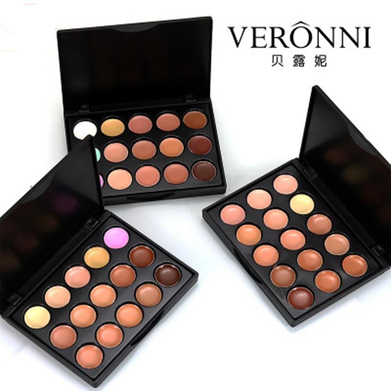 15 colores profesional corrector paleta de contorno de la cara de la Base de la Fundación paletas de crema mate maquillaje cosmético corrector paleta