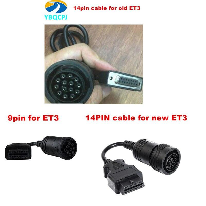 14pin cabo e 9pin cabo para cat et3 adaptador 3 iii ET-3 wifi sem fio caminhão ferramenta de diagnóstico comunicação 317-7485