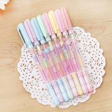 크리 에이 티브 한국 스타일 편지지 아름 다운 화려한 무지개 젤 펜 패션 사무실 학교 용품 쓰기 펜 그림 펜