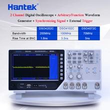 "Hantek DSO4102C Digital-Multimeter Oszilloskop USB 100MHz 2 Kanäle 7 ""64 K TFT Arbitrary Waveform Osciloscopio Logic Analyzer"