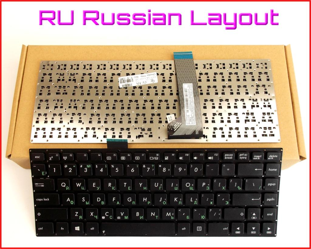 Nuevo teclado versión rusa RU para ASUS VivoBook F402C X402 S400CB X402C X402CA S451 S451E S451L S451LB portátil sin marco