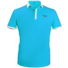 Vêtements de Golf hommes à manches courtes Polo T-Shirt été respirant coupe sèche course Sport chemises XXL (bleu)
