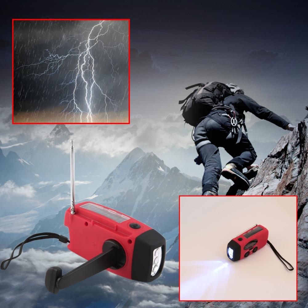 3 ב 1 מטען חירום יד crank גנרטור עם רדיו רוח עד/שמש/דינמו מופעל FM/AM רדיו, טלפונים מטענים LED פנס