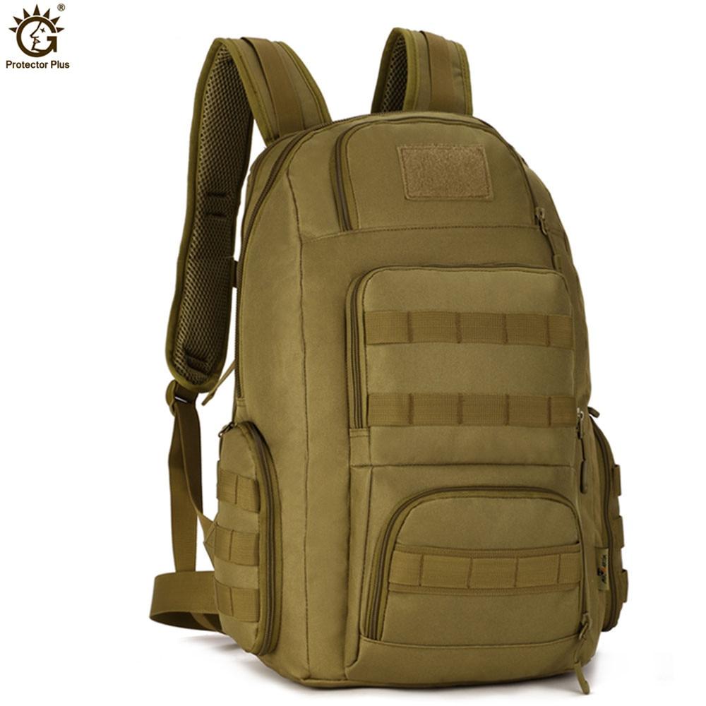 حقيبة ظهر تكتيكية 14 بوصة للرجال ، حقيبة ظهر عسكرية ناعمة ، سعة كبيرة 40 لتر ، حقيبة سفر نايلون مقاومة للماء