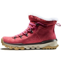 RAX Women Genuine Leather Hiking Shoes Outdoor Waterproof Warm Sneakers Breathable Outdoor Sports Shoes Men Walking Sneakers
