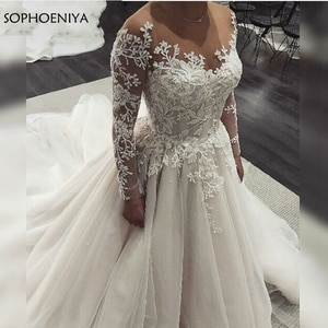 New Arrival Long sleeve wedding dresses 2021 Vestidos de noiva Casamento bridal dress Luxury boho wedding dress Abito sposa
