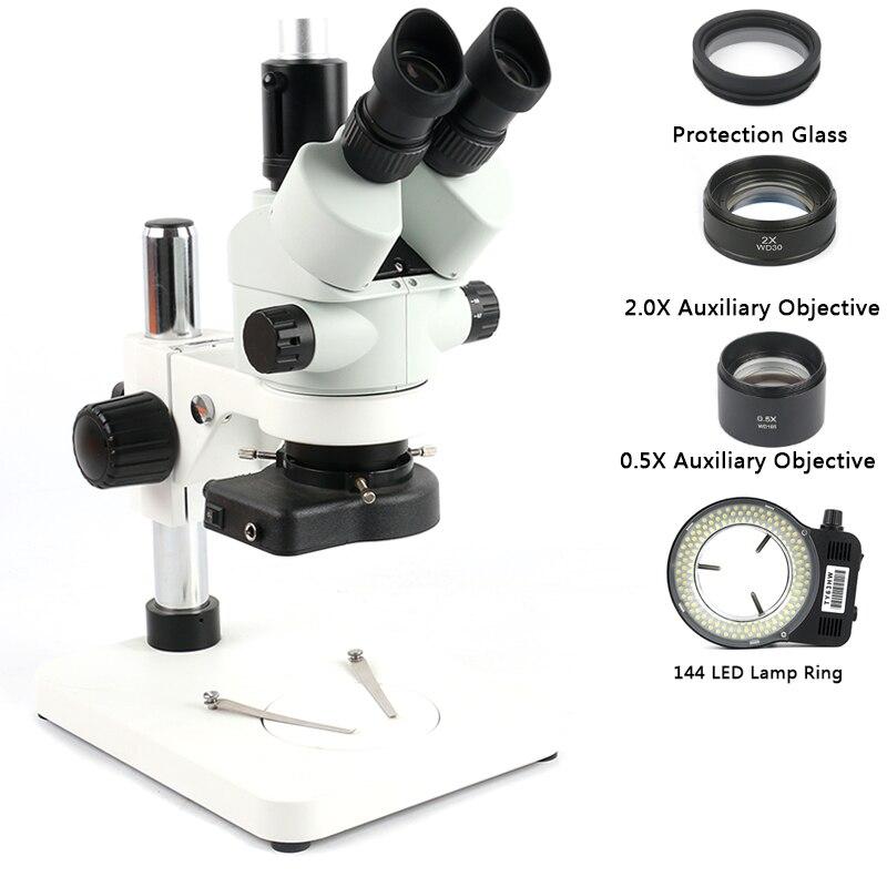 2020 3.5X 7X 45X 90X תעשייתי Simul-הפוקוס Trinocular מיקרוסקופ זום סטריאו מיקרוסקופ עבור מעבדה טלפון PCB תיקון הלחמה