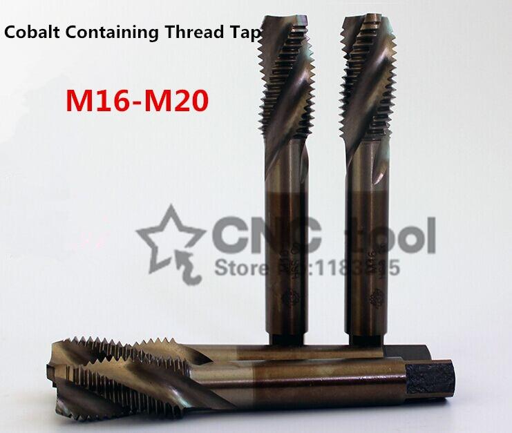 1 шт. M16-M20, содержащий кобальтовый станок, краны, спиральный канавный кран, специальный винт из нержавеющей стали (M16/M18/M20/M16*1,5/M18 * 1,5)