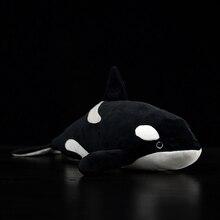 40cm Orcinus orque réaliste épaulard commun en peluche jouet doux mer Animal enfants Simulation océan Marine jouet cadeau Collection